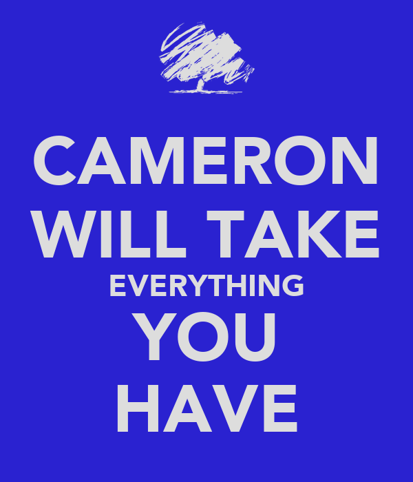 CAMERON WILL TAKE EVERYTHING YOU HAVE