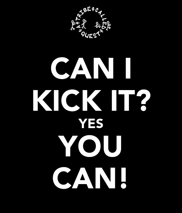 CAN I KICK IT? YES YOU CAN!
