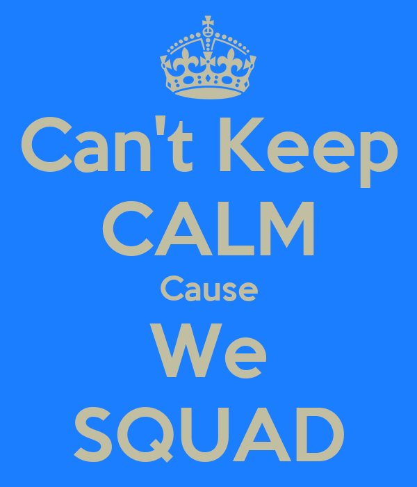 Can't Keep CALM Cause We SQUAD