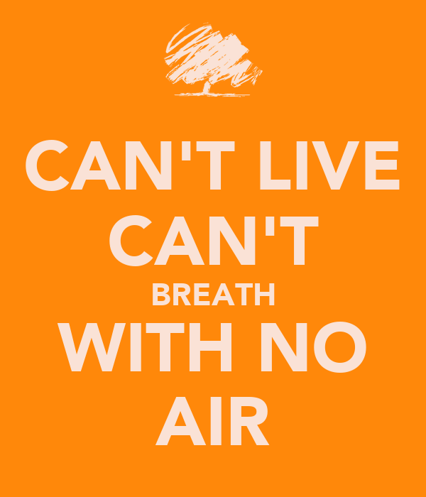 CAN'T LIVE CAN'T BREATH WITH NO AIR