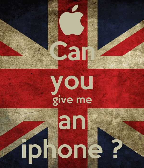 Can you give me an iphone ?