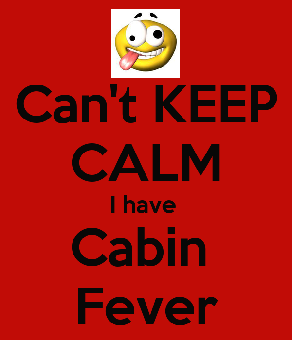 Can't KEEP CALM I have  Cabin  Fever