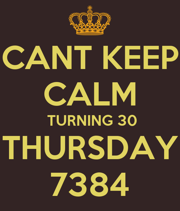 CANT KEEP CALM  TURNING 30 THURSDAY 7384