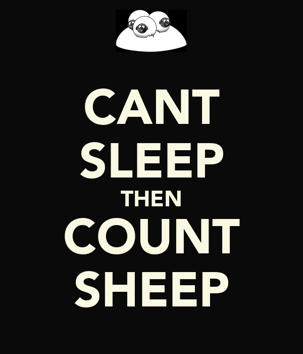 CANT SLEEP THEN COUNT SHEEP