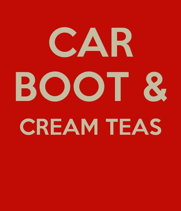 CAR BOOT & CREAM TEAS