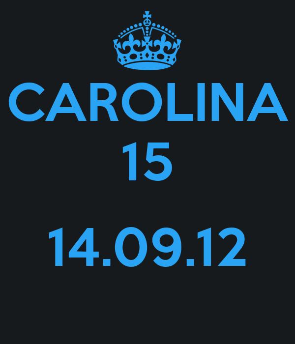 CAROLINA 15  14.09.12