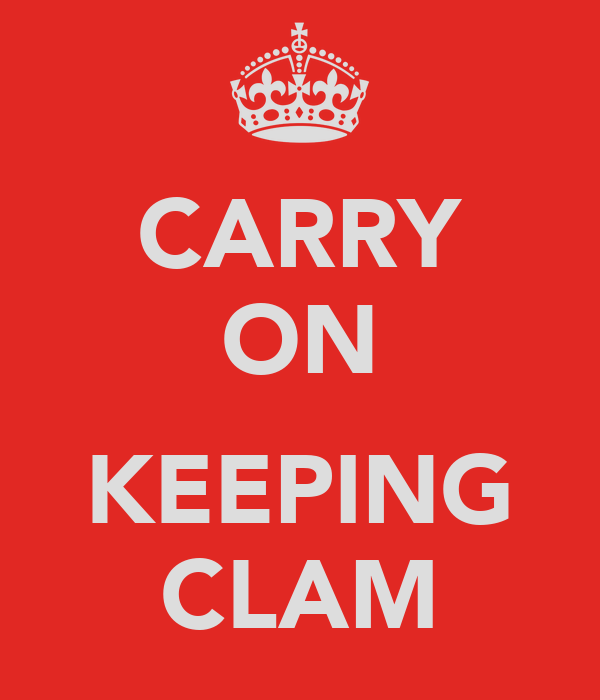 CARRY ON  KEEPING CLAM