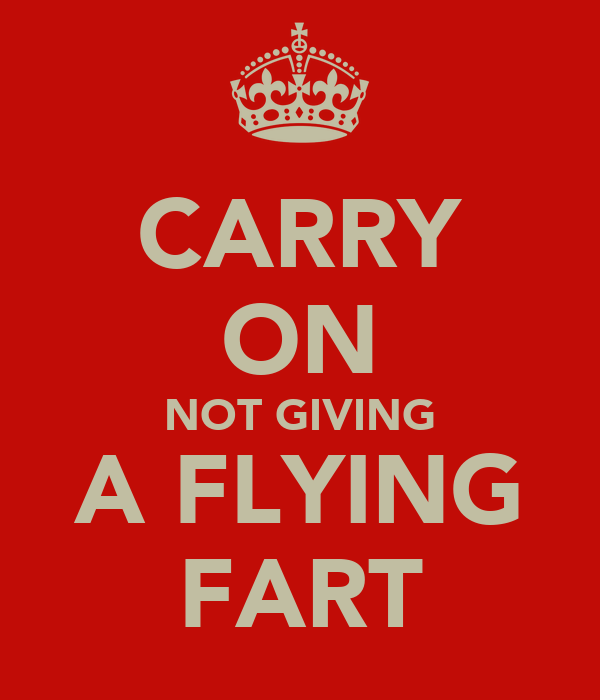 CARRY ON NOT GIVING A FLYING FART