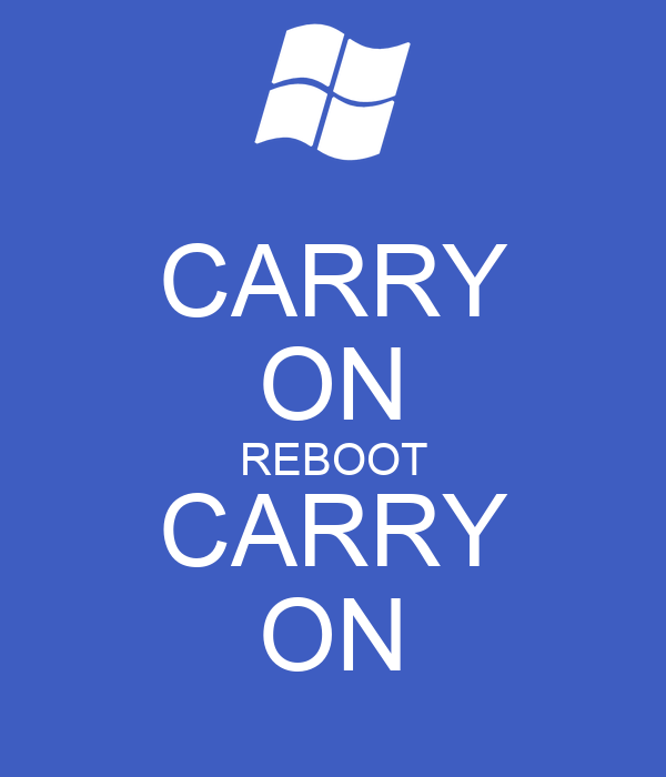 CARRY ON REBOOT CARRY ON