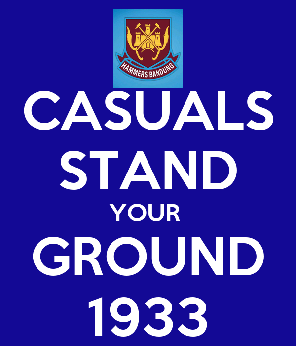 CASUALS STAND YOUR  GROUND 1933