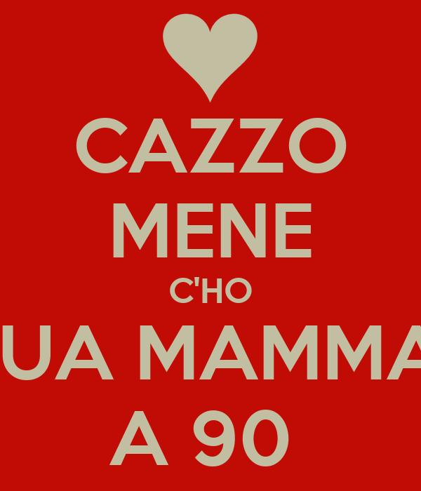 CAZZO MENE C'HO TUA MAMMA  A 90