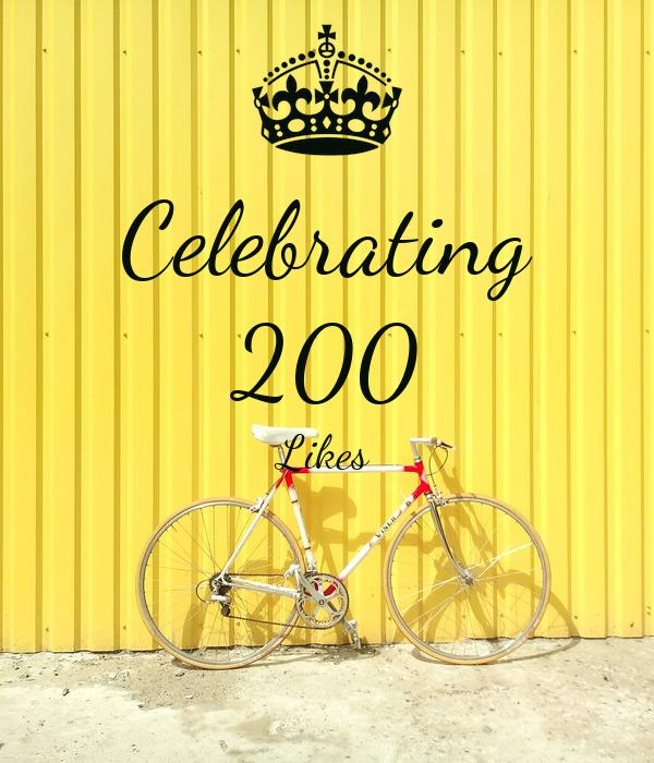 Celebrating 200 Likes