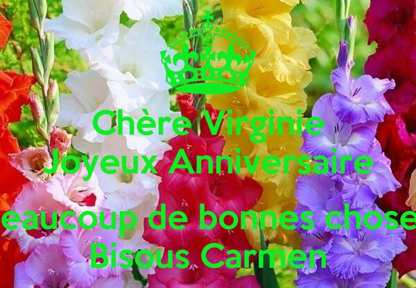 Chère Virginie Joyeux Anniversaire Beaucoup De Bonnes Choses Bisous