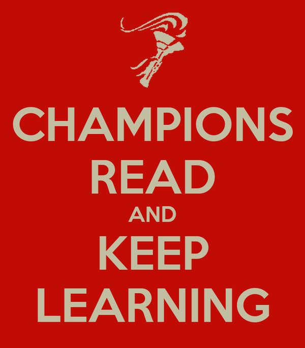 CHAMPIONS READ AND KEEP LEARNING