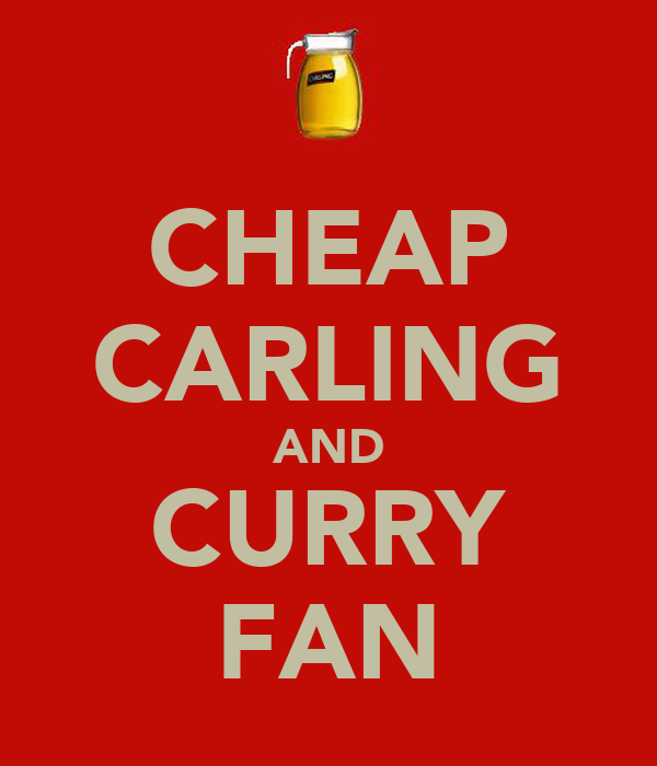 CHEAP CARLING AND CURRY FAN