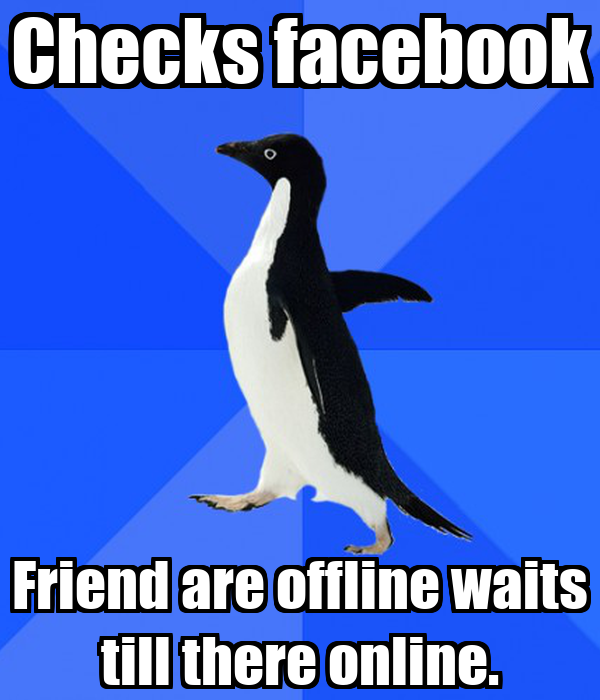 Checks facebook Friend are offline waits till there online.