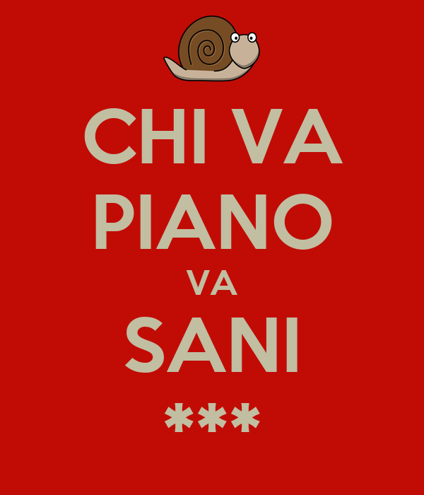 CHI VA PIANO VA SANI ***