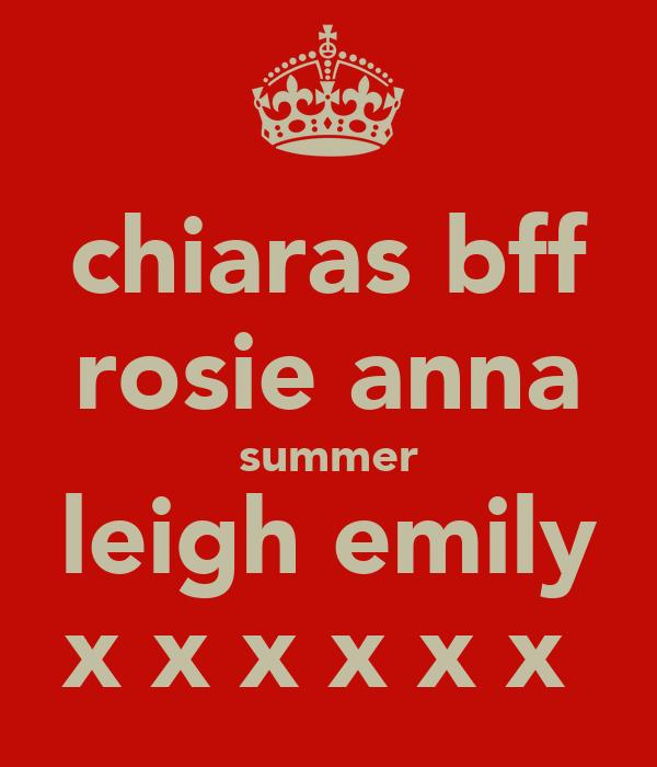 chiaras bff rosie anna summer leigh emily x x x x x x