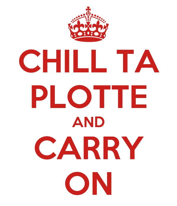 CHILL TA PLOTTE AND CARRY ON