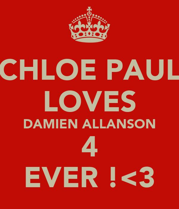 CHLOE PAUL LOVES DAMIEN ALLANSON 4 EVER !<3