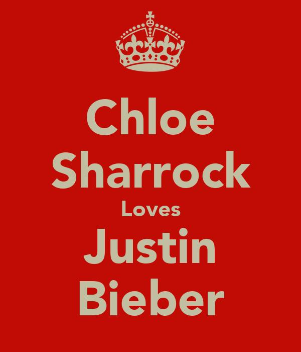 Chloe Sharrock Loves Justin Bieber