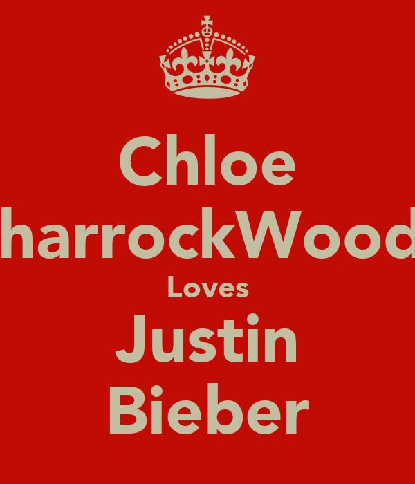 Chloe SharrockWoods Loves Justin Bieber