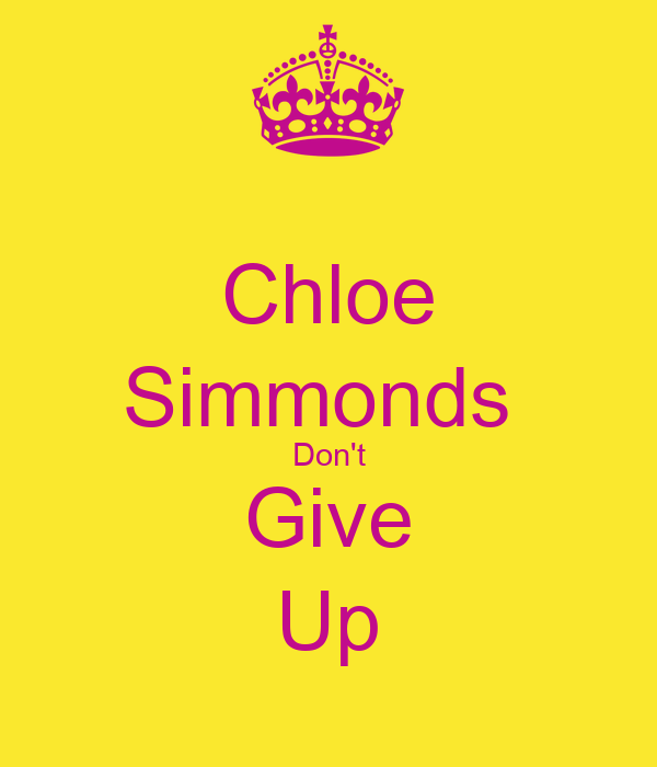 Chloe Simmonds  Don't Give Up