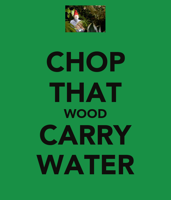 CHOP THAT WOOD CARRY WATER