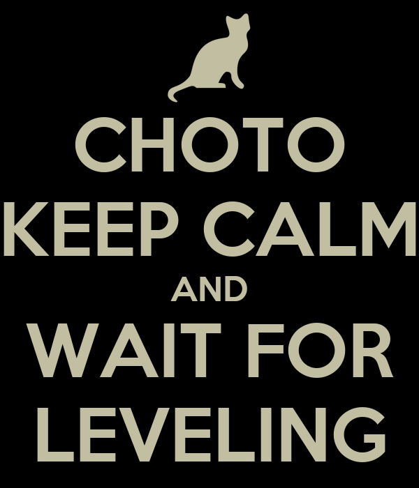 CHOTO KEEP CALM AND WAIT FOR LEVELING