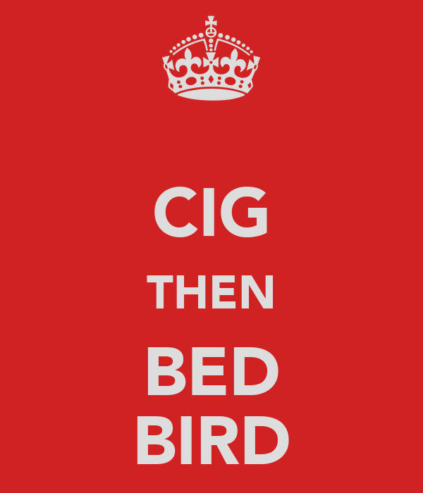CIG THEN BED BIRD