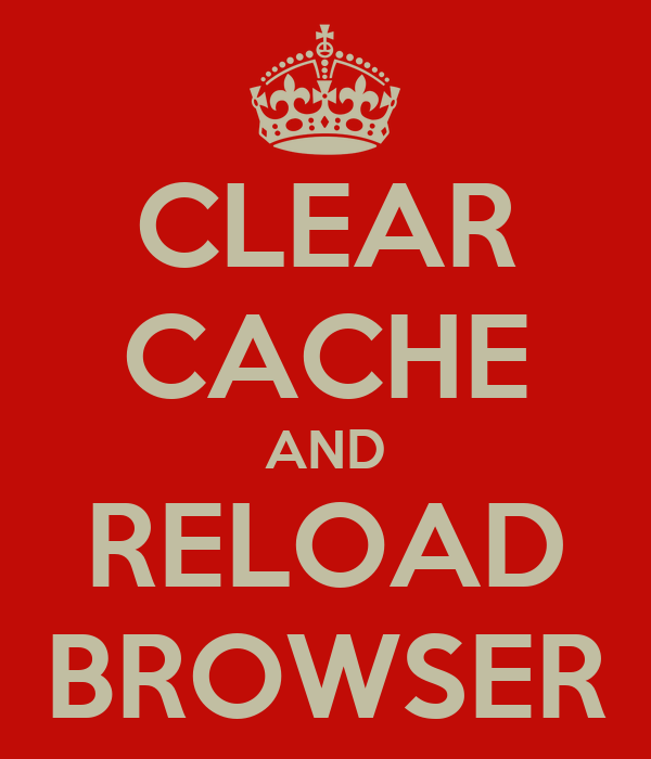 how to clear the cache browser