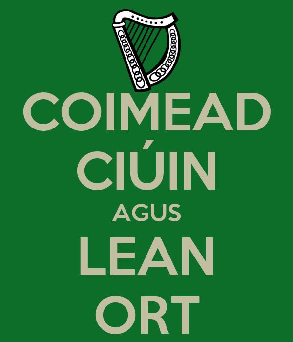 COIMEAD CIÚIN AGUS LEAN ORT