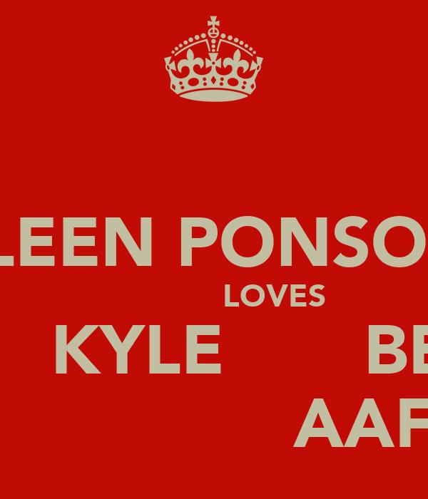 COLLEEN PONSONBY               LOVES       KYLE       BEY                AAF