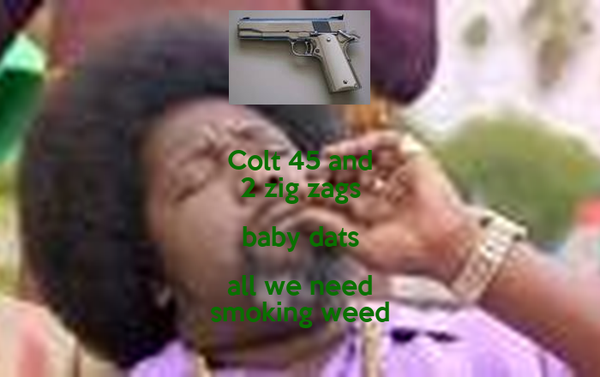 Colt 45 and 2 zig zags
