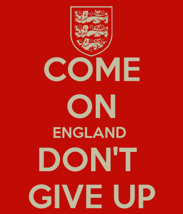 COME ON ENGLAND  DON'T  GIVE UP