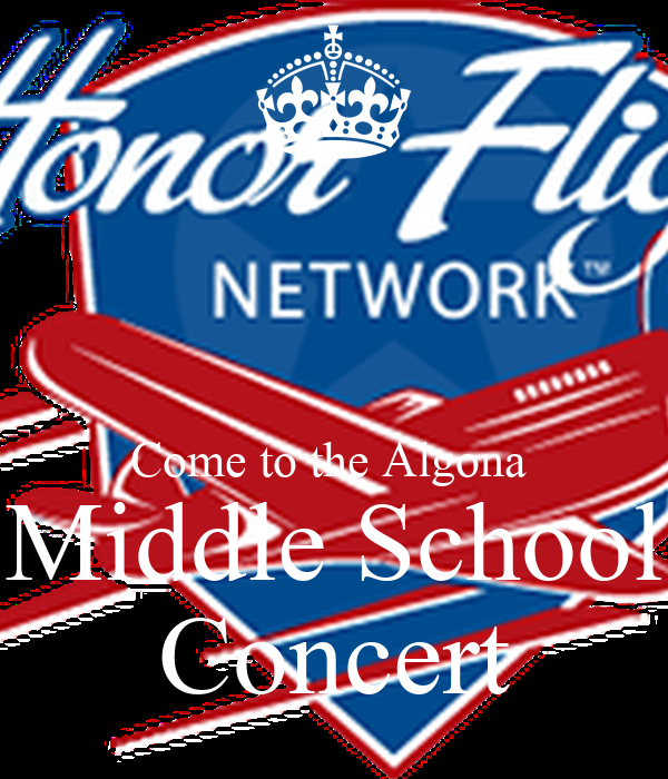 Come to the Algona  Middle School Concert