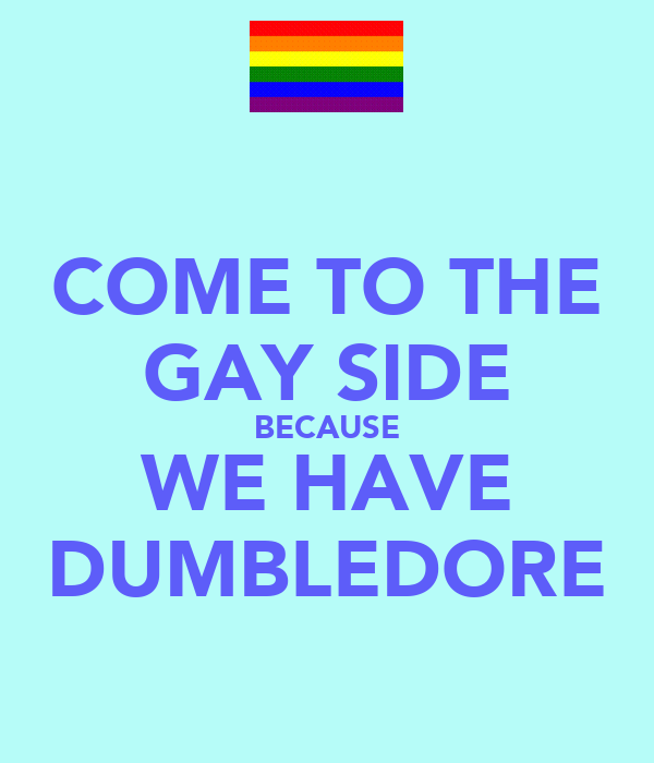 COME TO THE GAY SIDE BECAUSE WE HAVE DUMBLEDORE