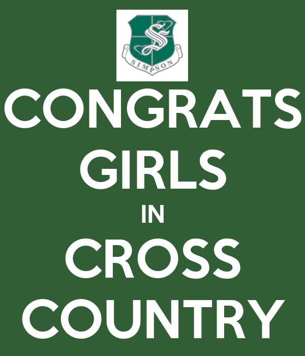 CONGRATS GIRLS IN CROSS COUNTRY