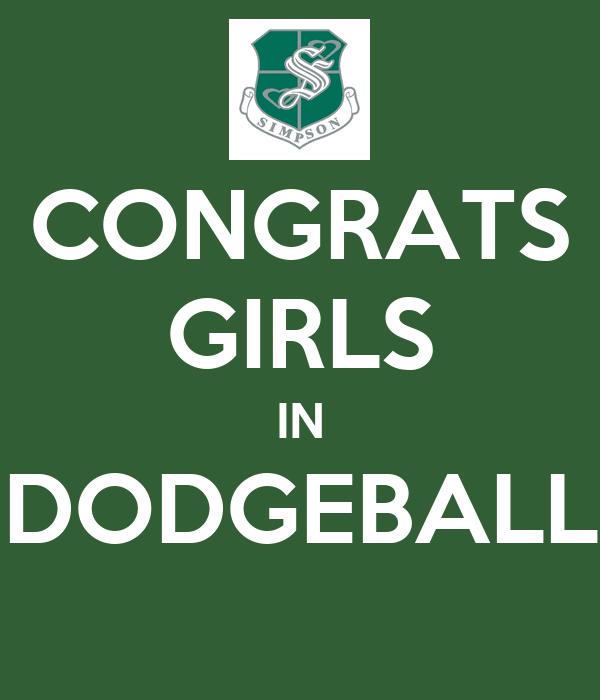 CONGRATS GIRLS IN DODGEBALL