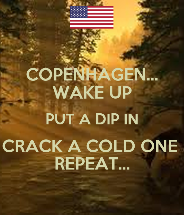 Copenhagen Wake Up Put A Dip In Crack A Cold One Repeat Poster
