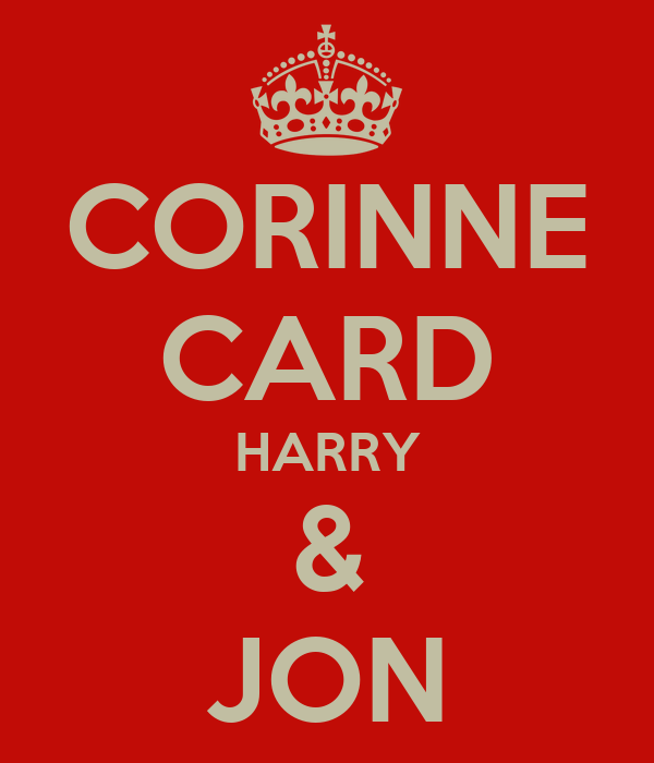 CORINNE CARD HARRY & JON
