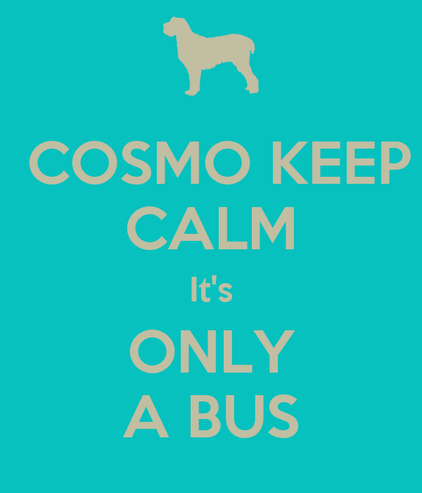 COSMO KEEP CALM It's ONLY A BUS