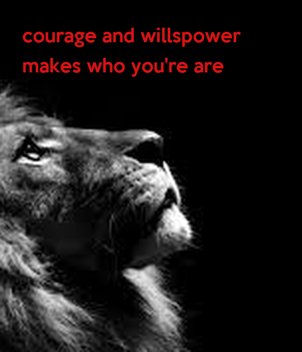 courage and willspower