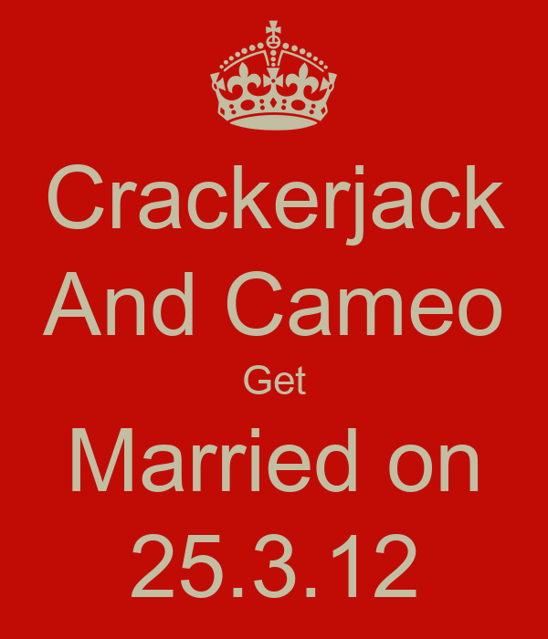 Crackerjack And Cameo Get Married on 25.3.12