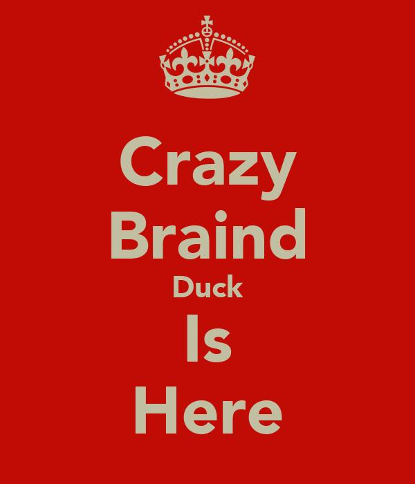 Crazy Braind Duck Is Here