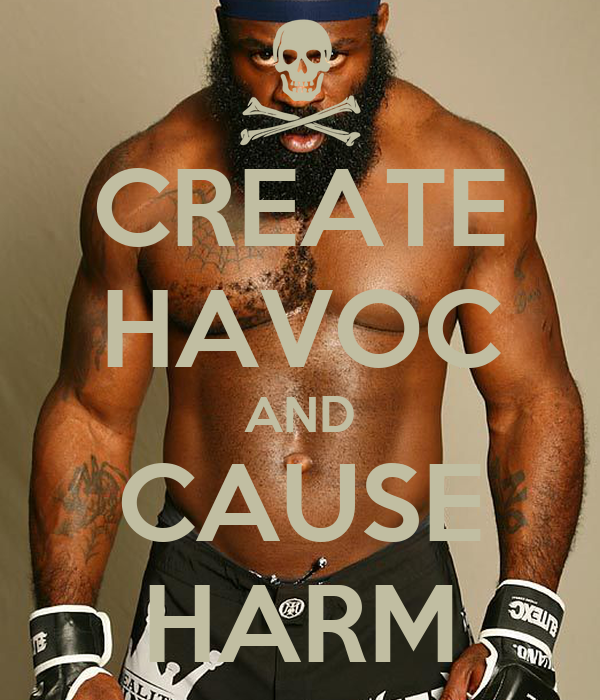 CREATE HAVOC AND CAUSE HARM