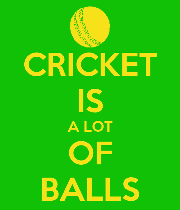 CRICKET IS A LOT OF BALLS
