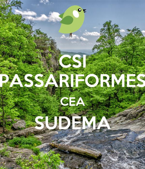 CSI PASSARIFORMES CEA SUDEMA