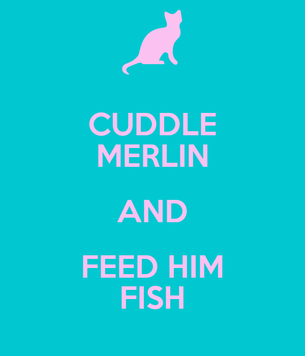 CUDDLE MERLIN AND FEED HIM FISH