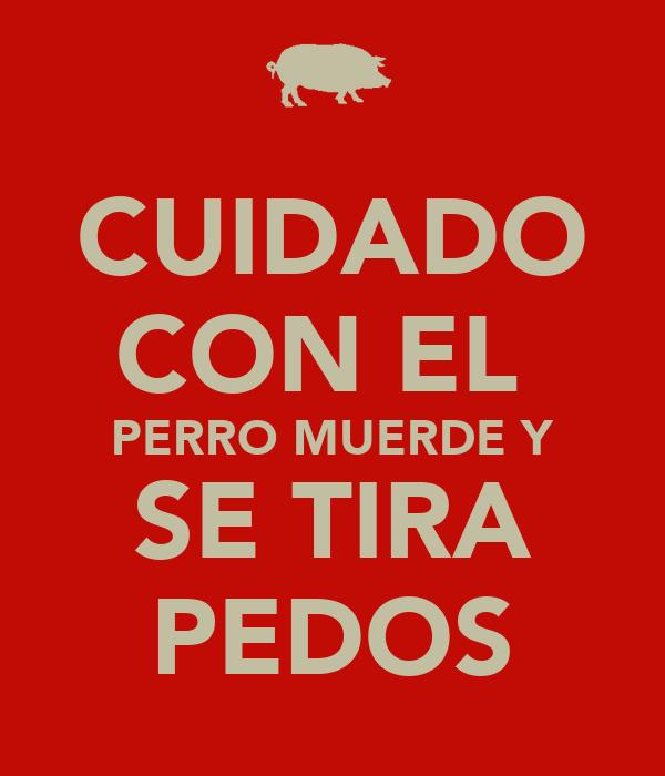 CUIDADO CON EL  PERRO MUERDE Y SE TIRA PEDOS